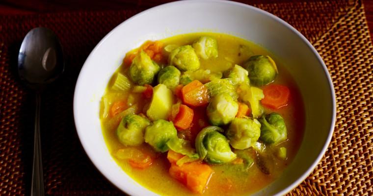 Gemüsecurry mit Rosenkohl