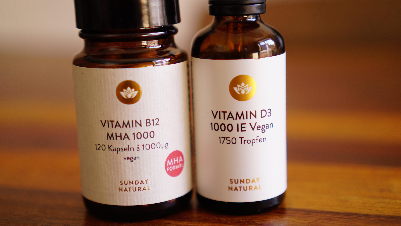 Supplemente bei pflanzlicher Ernährung: Vitamin B12 und Vitamin D
