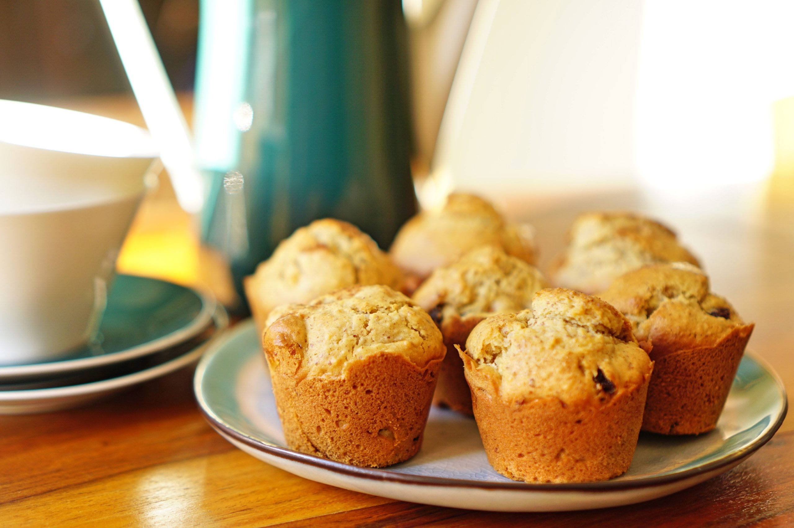 Zimt-Apfel-Rosinen-Muffins
